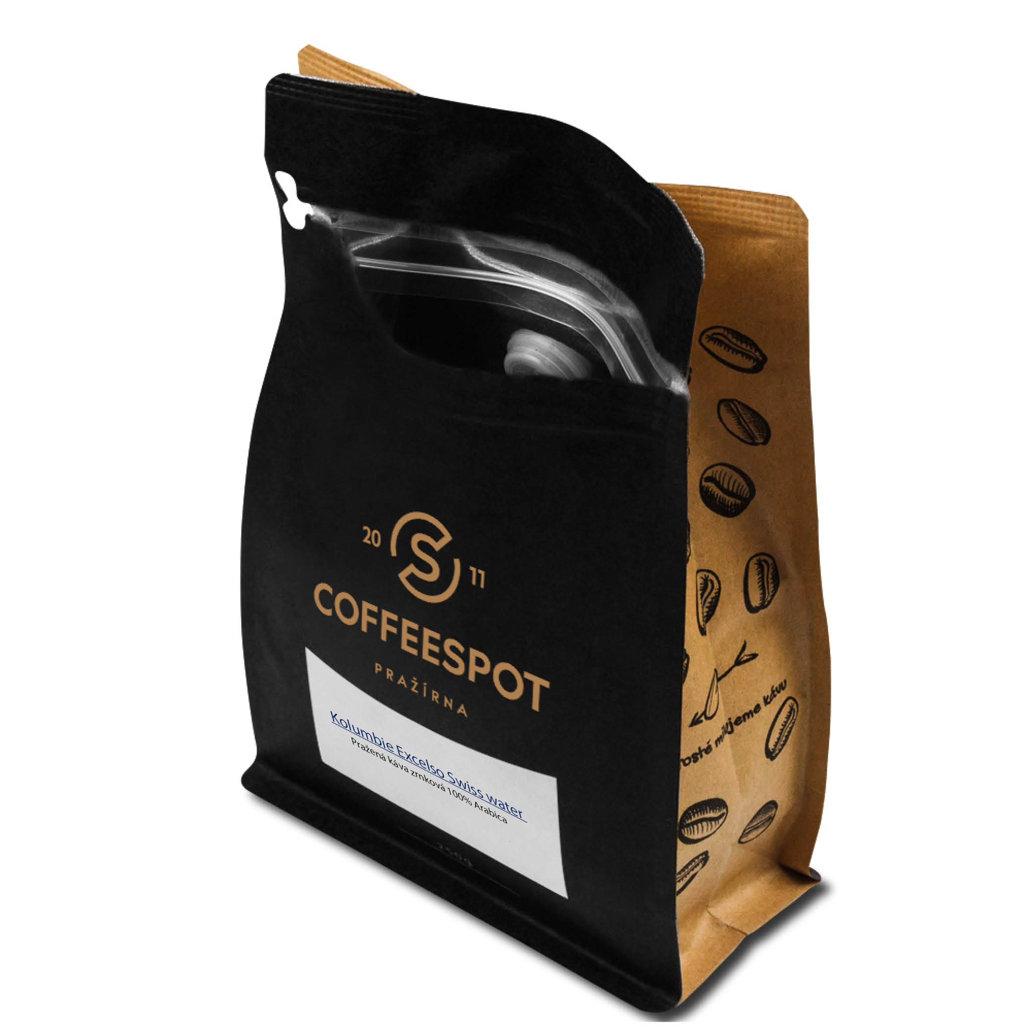 Kolumbie Excelso Swiss water Decaf 250g